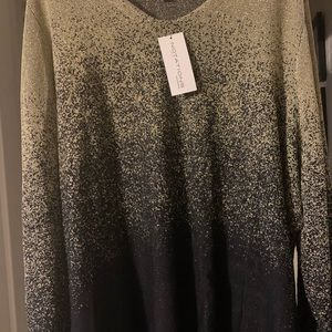 3xl black and gold sweater